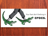 Please don't wear Crocs...