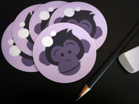 Space Chimp Logo Stickers