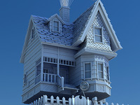 Pixar's Up House 3D Model