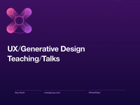 UX design talks - slides