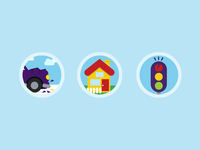 Flat icon Illustrations