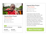 Pure Charity project widget
