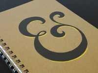 Hand-painted Ampersand Notebook