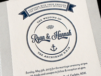 R & H Wedding Invitation