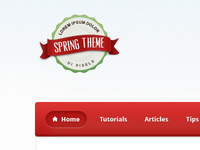 Spring Theme Wordpress Blog Design