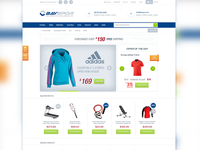 Sports Equipment E Commerce Theme Design