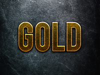 Photoshop Gold Text Layer Style