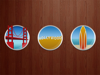 West Coast Theme Icons for an iPad app