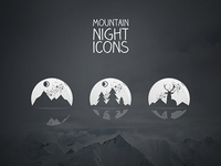 Mountain Night Icons