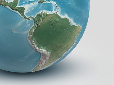 Earth-illustrations-3d-globe-natural-render-planet
