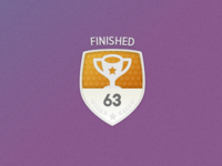 Finished events badge