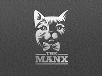 Cat logo letterpress