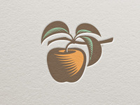 Logo Apple Letterpress color