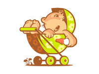 Illustration baby stroller