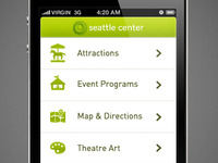 Seattle Center - iPhone Concept Design