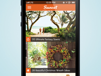 Sunset Magazine - iPhone Concept