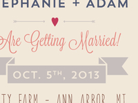 Steph & Adam's Save the Date