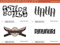 Ambigrams Revealed Sample Spreads
