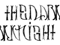 The Dark Knight // Ambigram