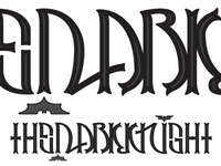 The Dark Knight Part Deux // Ambigram