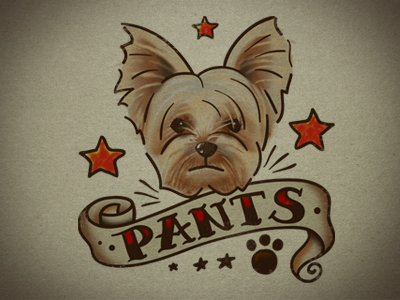 Pants-tattoo