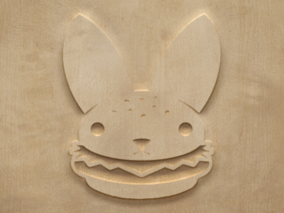 Woodcut-burger-bunny