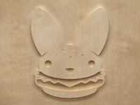Woodcut Burger Bunny