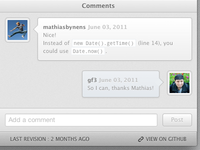 Comments UI