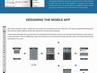Case Study - Designing the Mobile App