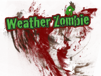 Weather Zombie t-shirt Design