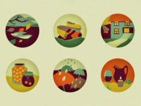 Autumn icons recolored