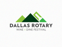 Dallas Rotary Wine And Dine Logo