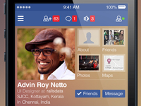iPhone iOS7 app for Facebook