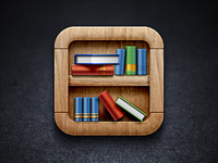 Bookshelf iOS Icon