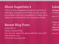 Sugarbaby's Website Footer