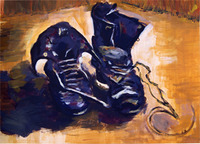 "Reproduction of ""A Pair of Shoes by Vincent van Gogh"""