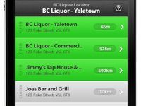 BC Liquor Locator - Index View