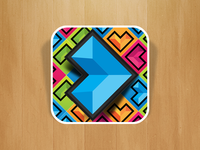 Directional Gem Matching Game Icon