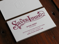 Silverlining Letterpress Business Cards