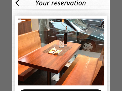 Reservation - chosen table
