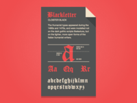Blackletter Fontcard