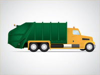 Garbage Truck Illustration