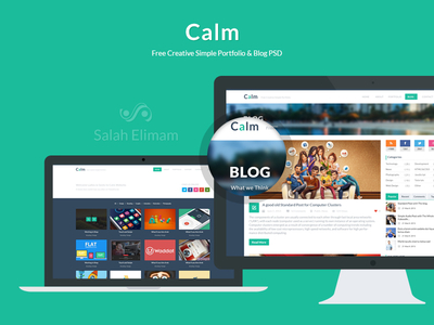 Download Calm, Free Creative Simple Portfolio and Blog PSD