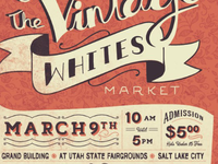 The Vintage Whites Market Event Poster