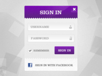 Purple Sign In Modal