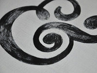 Ampersand. Acrylic on canvas.