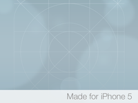 iOS 7 Icon Grid Wallpaper for iPhone 5