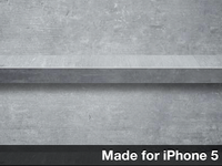 Concrete Shelves Wallpaper For iPhone 5
