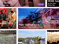 Festicket Homepage - Festival grid