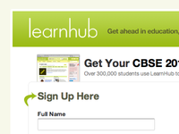 Learnhub Sign up page